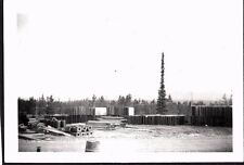 VINTAGE PHOTOGRAPH '43 WHITEHORSE CANADA YUKON CANOL OIL PIPELINE ROAD OLD PHOTO