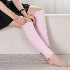 Womens Warm Knit Crochet High Knee Leg Warmers Leggings Boot Socks Slouch CL
