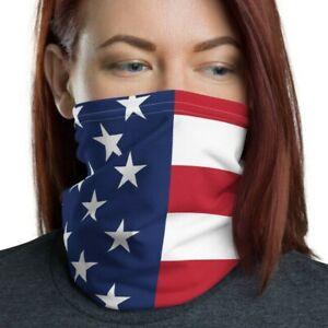 American Flag Face Mask, Washable, Reusable, Patriotic Neck Gaiter, Face Shield