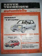 RENAULT Super 5 GT Turbo (CITROËN GSA) - Revue Technique Automobile