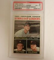 1964 Topps #6 AL Strikeout Leaders PSA 4 Bunning