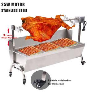 BBQ Spanferkelgrill Lammgrill Grillwagen Edelstahl Barbecue Hänchengrill bis50kg