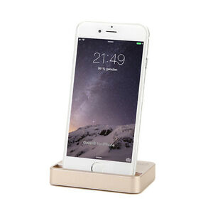 Dockingstation iPhone X 8 7 6 6S Plus 5C 5S SE iPod Lade Ständer Daten Sync Gold