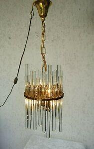 Christoph Palme Glass Rod Design Chandelier  Luxus Kronleuchter Lampe 60s