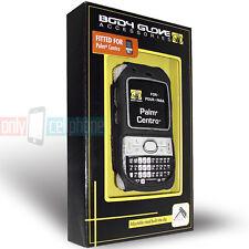 Palm Centro Body Glove Silicone Case Black Cover w/ Kickstand Belt Clip CRC90745
