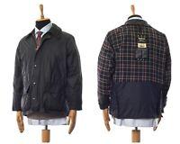 Mens BARBOUR Bedale Wax Waxed Jacket Coat Black Size C40/102cm L