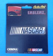 AUTO EMBLEM NASCAR 3D Decal/Sticker Looks like a Chrome Plate for All Vehicles