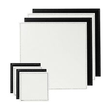 8pc Set of Black and White Reversible Placemats and  Coasters Wedding Tableware