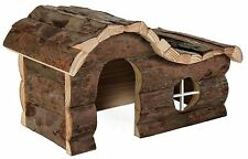 Natural Wooden Hanna House with Curved Roof for Gerbils Mice & Hamsters