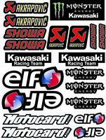 ZX-10R WSBK Adesivi moto set decalcomanie ZX10R Motocard Monster ELF /11
