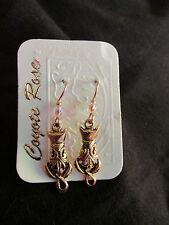 Coyote Rose Earrings - Dangle - Cats - New