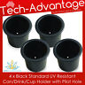 4 X STANDARD SIZE RECESSED BLACK DRINK/CUP/CAN/STUBBIE HOLDER MARINE BOAT YACHT