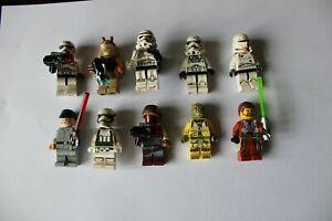 LEGO - LOT DE 10 FIGURINES PERSONNAGES STAR WARS