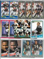(33) 1988 1989 Score Pro Set Action Packed SI KIDS TSC Topps Bo Jackson RC Lot
