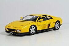 HOT WHEELS ELITE 1:18 AUTO DIE CAST FERRARI 348 TB AMARILLO V7437