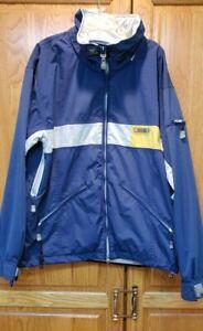 Quiksilver Roxy Blue Shell Winter Snowboard Ski Jacket Women's Size Large