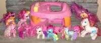 My Little Pony Lot Walker Stroller And 11 My Little Ponies