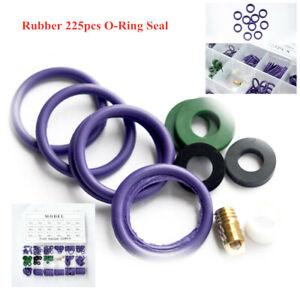225pcs Mixing Color Rubber O-Ring Seal Set Car Air Conditioning A/C Repair Parts