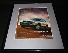 2001 Hyundai Santa Fe Framed 11x14 ORIGINAL Vintage Advertisement B