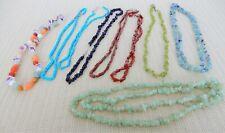 Semi precious stone lot for crafting- 8 strands- aventurine, quartz, sandstone
