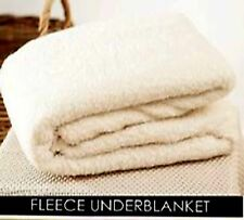 NEW WARM THERMAL FLEECE WOOL UNDER BLANKET PROTECTOR FITTED COVER ALL SIZES