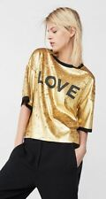 MNG Mango Metallic Love Shirt Velvet Finish
