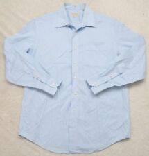 Tommy Bahama Dress Shirt 16.5 34/35 Cotton White Blue Purple Striped Button Up