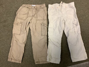 LOT OF TWO BOYS KIDS SIZE 3T PANTS EPIC THREADS BEIGE TAN POCKETS LINED