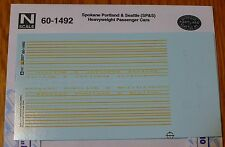 Microscale Decal N #60-1492 Spokane Portland & Seattle (SP&S) Heavyweight Passen