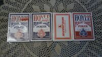 LOT OF 3 Hoyle Poker Playing Cards 2 blue, one red + one Seafirst Bank Cards