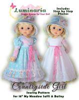 "Disney Animator Doll Clothes Pattern Dress Pants Luminaria 16/"" Princess PDF Gift"