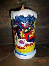 """NEW The Beatles Yellow Submarine 7"""" Tall Battery Operated LED Candle Light"""