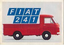 Fiat 241 Vans & Light Truck Original UK Sales Brochure Pub. No. 2924