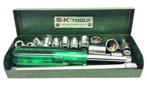Vintage S-K Tools Made in USA 40954 Ratchet Socket Set Tools in Box