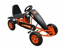 Duplay Velocity Racer MEGA LARGE Kids Pedal Go Kart - Orange