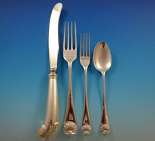 Williamsburg Shell by Stieff Sterling Silver Dinner Flatware Set 8 Service 32 Pc
