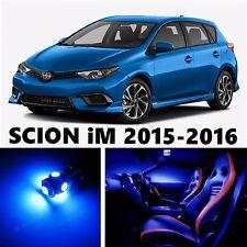 11pcs LED Blue Light Interior Package Kit for SCION iM 2015-2016