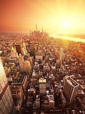 ART PRINT POSTER PHOTO DT NEW YORK BIRDS EYE VIEW SUNRISE LFMP0365