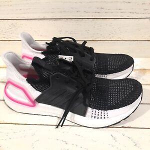 Adidas UltraBoost 19 Pink Women's Running Shoes White/Black Sz 11 (EF1625)