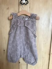 Mamas and Papas Baby Broderie Anglaise Romper, 12-18 months, new with tags.