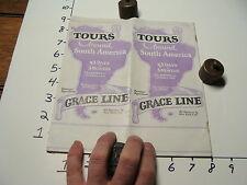 Vintage Tourist paper: Grace Line tour around South America brochure, 32 pages