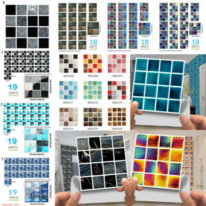 30pc Kitchen Tile Stickers Bathroom Mosaic Wall Sticker Self-adhesive Home Decor