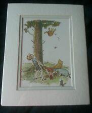 Winnie The Pooh Lithograph 1991 Walt Disney Co. Tiggers Dont Climb Trees HTF