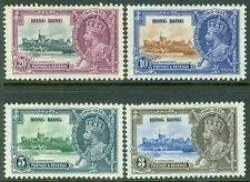 HONG KONG : 1935. Stanley Gibbons #133-36 Very Fine, Mint Original Gum H Cat £65
