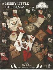 A Merry Little Christmas No. 125 Cross Stitch Pattern Book by Homespun Elegance