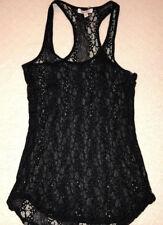 SEXY HALLOWEEN COSPLAY WOMENS XS STRETCH BLACK LINGERIE SEE THRU TANKTOP DRESS