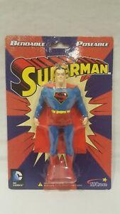 2013 NJ CROCE DC COMICS BENDABLE POSEABLE SUPERMAN COLLECTOR ACTION FIGURE RARE