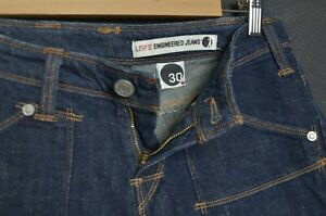 LEVIS Womens Jeans W31 Pants Shorts Twisted ENGINEERED Denim Indigo Blue Bermuda