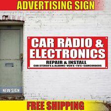 CAR RADIO & ELECTRONICS repair install Advertising Banner Vinyl Mesh Decal Sign