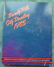 1985 Beverly Hills CA CITY DIRECTORY number TELEPHONE PHONE BOOK YELLOW PAGES